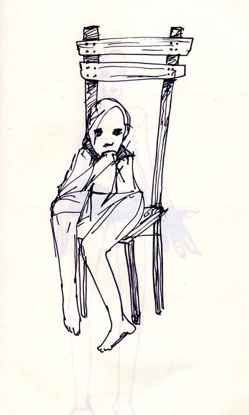 Untitled (Little Girl Big Chair)