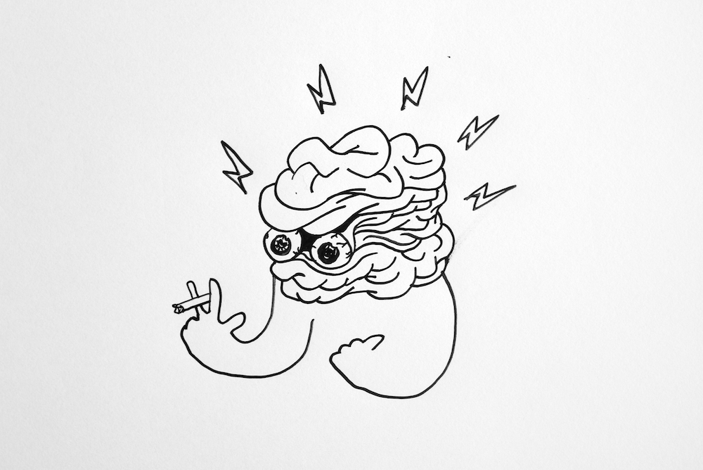 Untitled (Angry Brain)