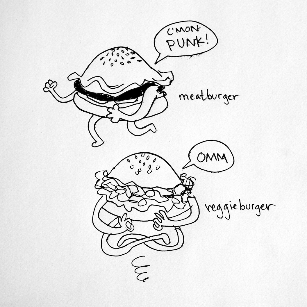 Meat Burger / Veggie Burger