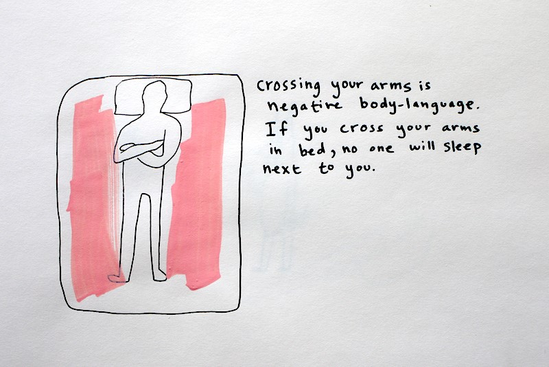 Crossing Arms In Bed Is Negative Body Language