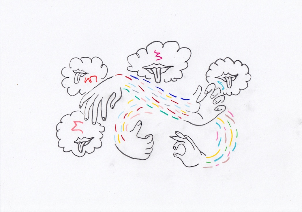 Untitled (Clouds Hands)