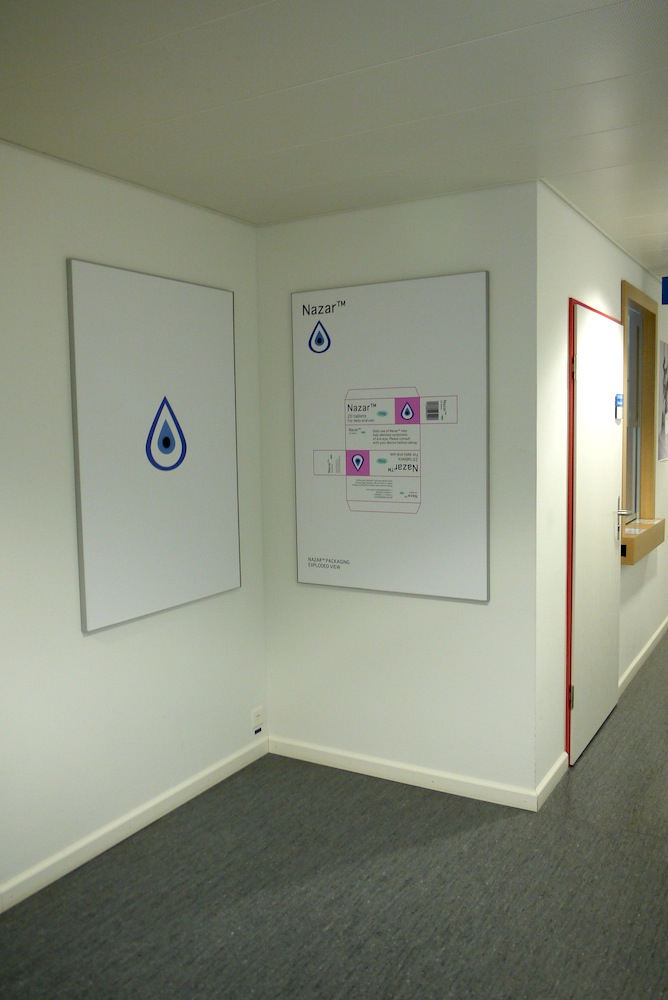 Nazar™ posters in the CAAP in Geneva, Switzerland